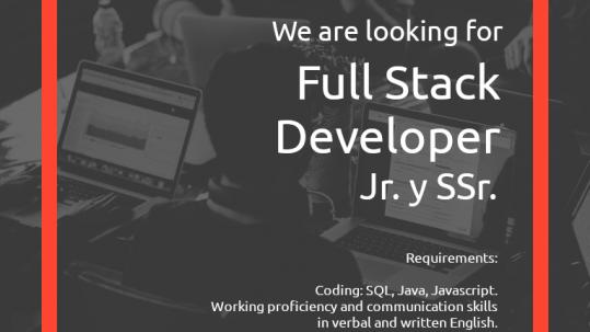 Full Stack Developer search flyer