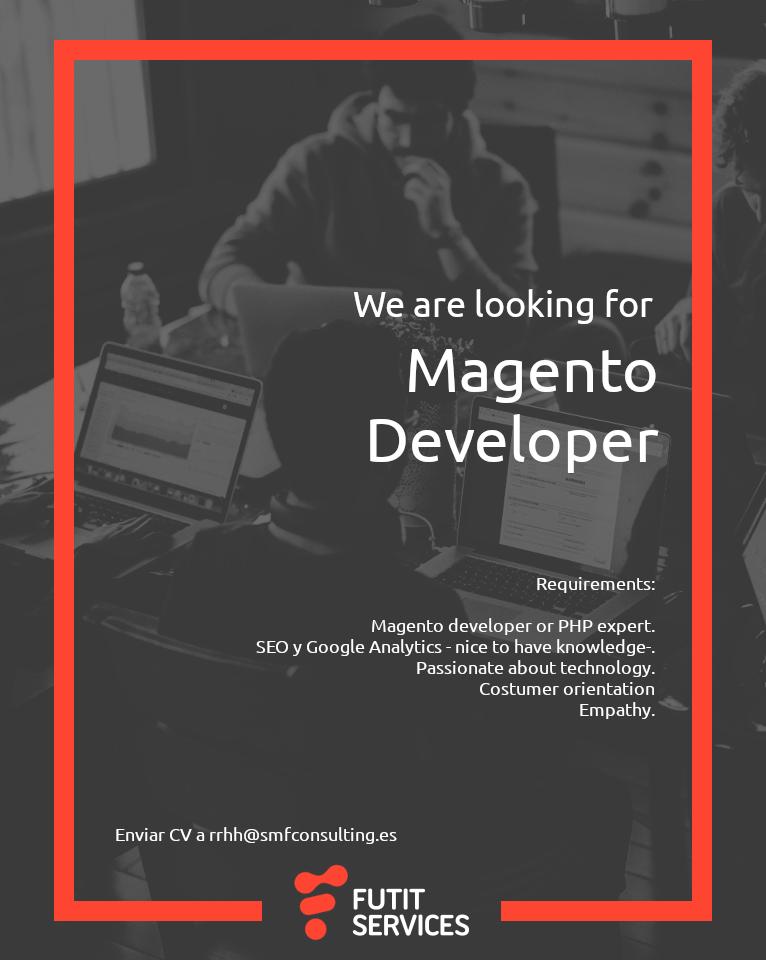 Magento Developer search flyer