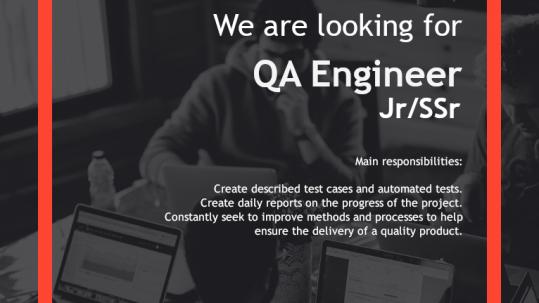 Careers - QA Engineer Jr/Ssr