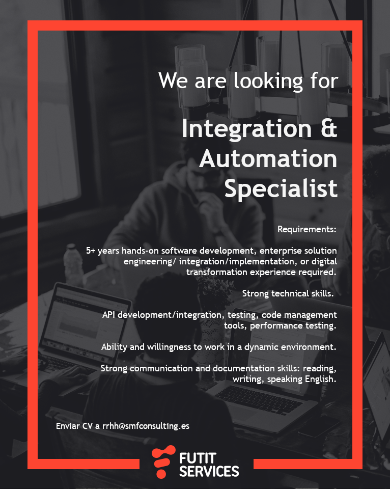 Integration & Automation Specialist search